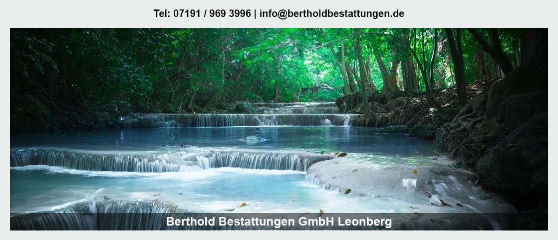 Bestattungen für Sankt Leon-Rot - Berthold Bestattungen GmbH: Erdbestattung, Feuerbestattung