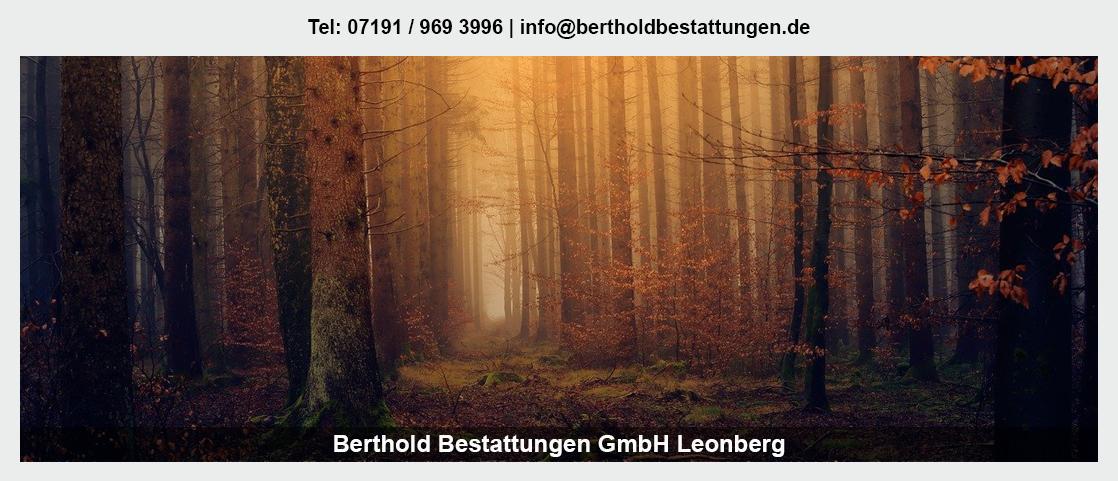 Bestattungen Güglingen - Berthold Bestattungen GmbH: Erdbestattung, Friedwald