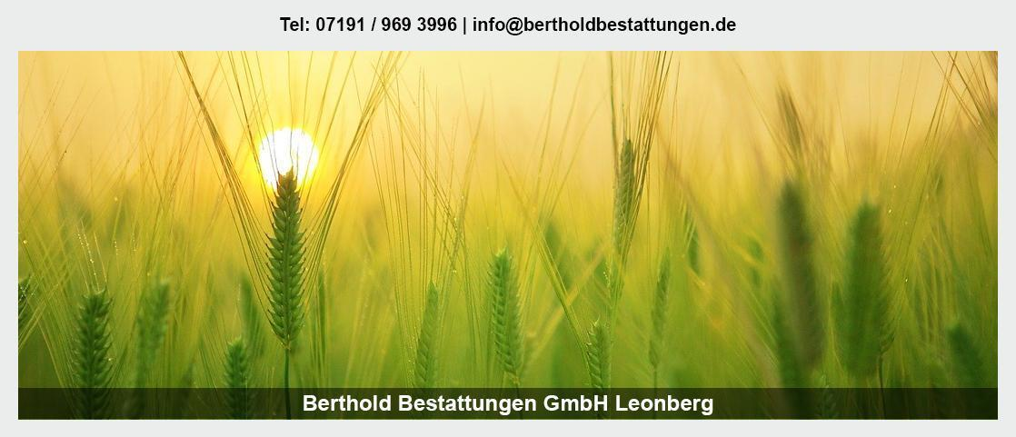 Bestattungen Remseck (Neckar) - Berthold Bestattungen GmbH: Erdbestattung, Feuerbestattung