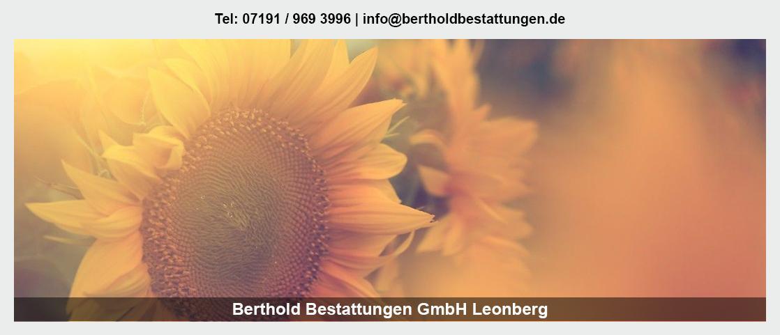 Bestattungen in Ilsfeld - Berthold Bestattungen GmbH: Erdbestattung, Friedwald