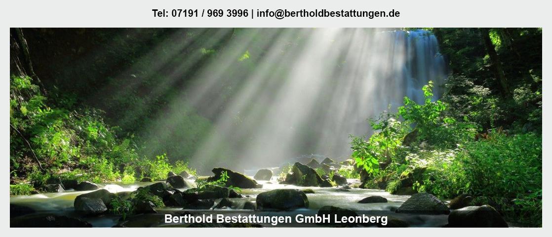 Bestattungen Offenau - Berthold Bestattungen GmbH: Erdbestattung, Anonyme Bestattung