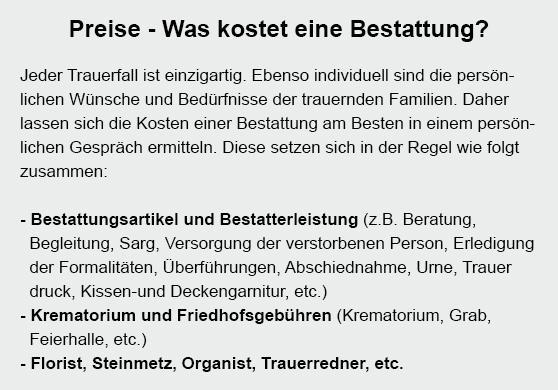 günstige Bestattung in  Pfalzgrafenweiler